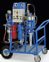 Paint spraying unit / for protective coverings / airless