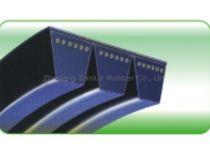 Trapezoidal transmission belt / rubber