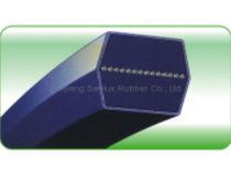 Hexagonal transmission belt / rubber