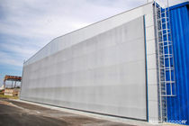 Fold-up door / fabric / steel / PVC