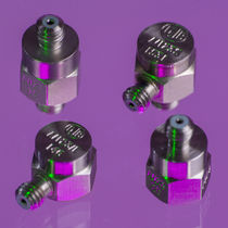 Piezoelectric accelerometer / 1-axis / with built-in electronics / miniature