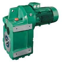 Single-phase electric gearmotor / parallel-shaft / helical / compact