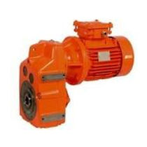 Asynchronous electric gearmotor / parallel-shaft / helical / compact