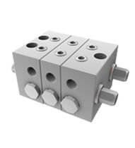 Piston valve / for oil / in-line / double