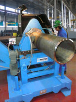 Orbital chamfering machine / for pipe ends / automatic