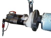 Portable tube end chamfering machine