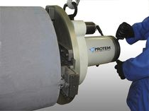 Portable tube end chamfering machine / heavy-duty