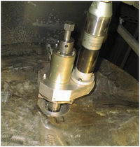 Pneumatic chamfering machine / precision / for sheet metal