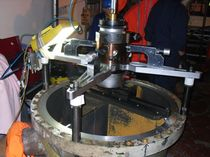 2-axis turning machine / mobile / universal / for valves and flanges