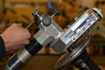 Chamfering machine flange facing attachment