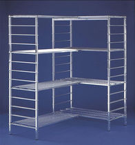 Modular shelving / light-duty / galvanized / metal