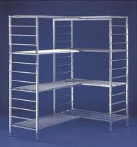 Modular shelving / light-duty / galvanized / metal