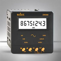 Single-phase electric energy meter / panel-mount / with LCD display / Modbus