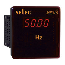 Frequency meter / digital / panel-mount / single-phase
