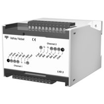 DIN rail signal conditioner / for LVDT transducers