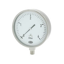 Analog pressure gauge / capsule / for gas / stainless steel