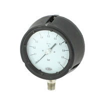 Analog pressure gauge / diaphragm / for gas / process