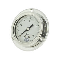 Analog pressure gauge / Bourdon tube / for gas / stainless steel