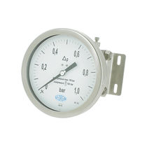 Analog pressure gauge / diaphragm / differential / for gas