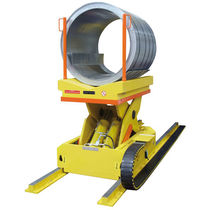 Loading cart / metal / reel holder / rail-mounted