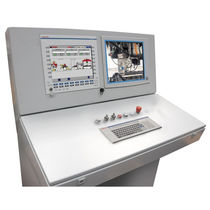 Control operator terminal / with touch screen / with keyboard / floor-standing