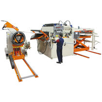 CNC cut-to-length cutting line / metal / coil-fed