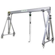 Gantry crane on casters / aluminum / for workshops