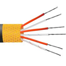 Insulated electrical cable / multi-conductor / copper / temperature sensing