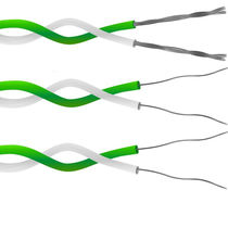 Power cable / insulated / twisted pair / for thermocouples