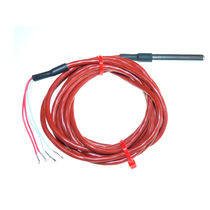 Pt100 temperature probe / with stainless steel tube / 4-wire / insulated