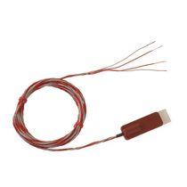 Pt100 temperature sensor / insulated / for surface temperature measurement