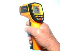Infrared thermometer / digital / mobile