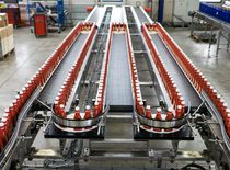 Belt conveyor / accumulation / single file