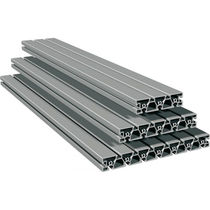 Aluminum profile / grooved / for machine frames and housings