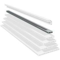 Aluminum profile / grooved / lightweight / construction