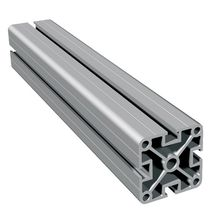 Aluminum profile / grooved / lightweight / extruded