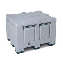 Polyethylene crate / storage / with lid
