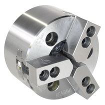 Power chuck / 3-jaw / through-hole / high-speed