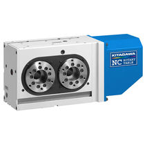 Motor-driven rotary indexing table / vertical / for machine tools / double-spindle