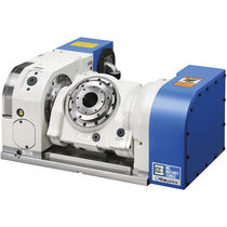 Motor-driven rotary table / tilting / for machine tools / NC