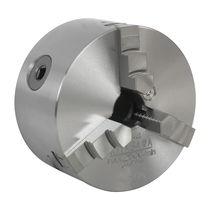 Manual tightening turning chuck / 3-jaw / through-hole / lathe
