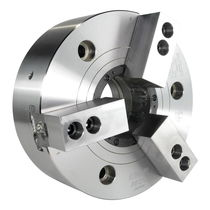 Power chuck / 3-jaw / through-hole / alloy