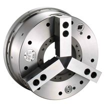 Power chuck / 3-jaw / through-hole / self-contained