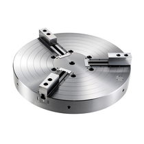 Power chuck / 3-jaw / for lathes / closed-center