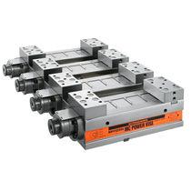 Machine tool vise / pneumatic / modular / multiple