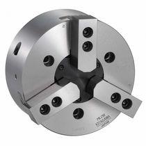 Power chuck / 3-jaw / closed-center / hydraulic
