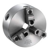 Manual tightening turning chuck / 3-jaw / through-hole / steel