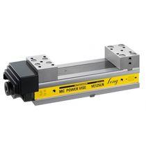 Machine tool vise / low-profile / precision / steel