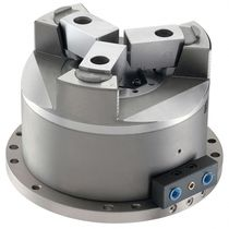 Power chuck / 3-jaw / pneumatic / hydraulic