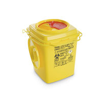 Plastic waste bin / for medical waste / with lid